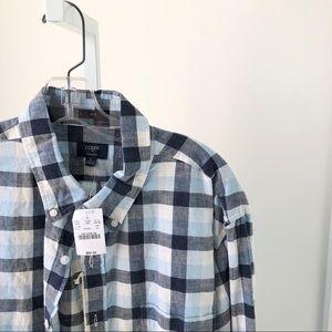 New! J Crew Mens Long Sleeve Button Down Shirt XL